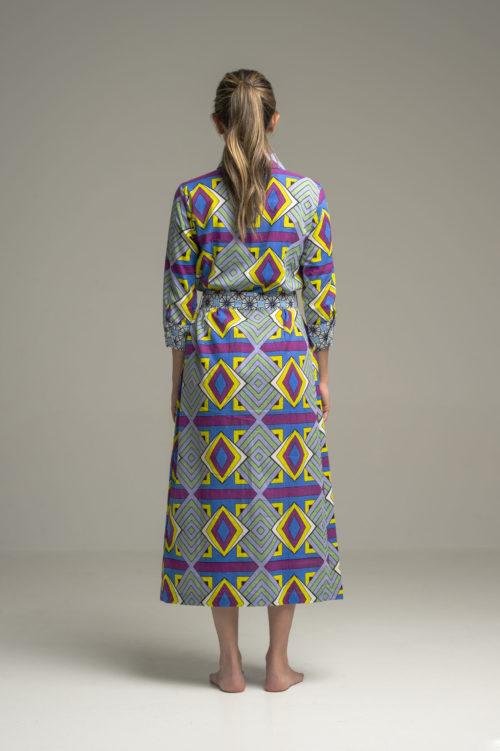 Dress Indra Geometrique Blue 2