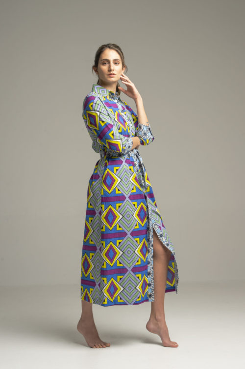 Dress Indra Geometrique Blue 3
