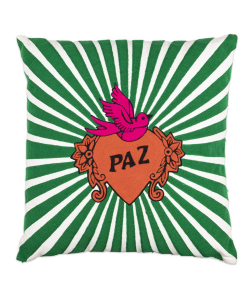 Paz Pillow - Electric Paros - Embroidered pillow