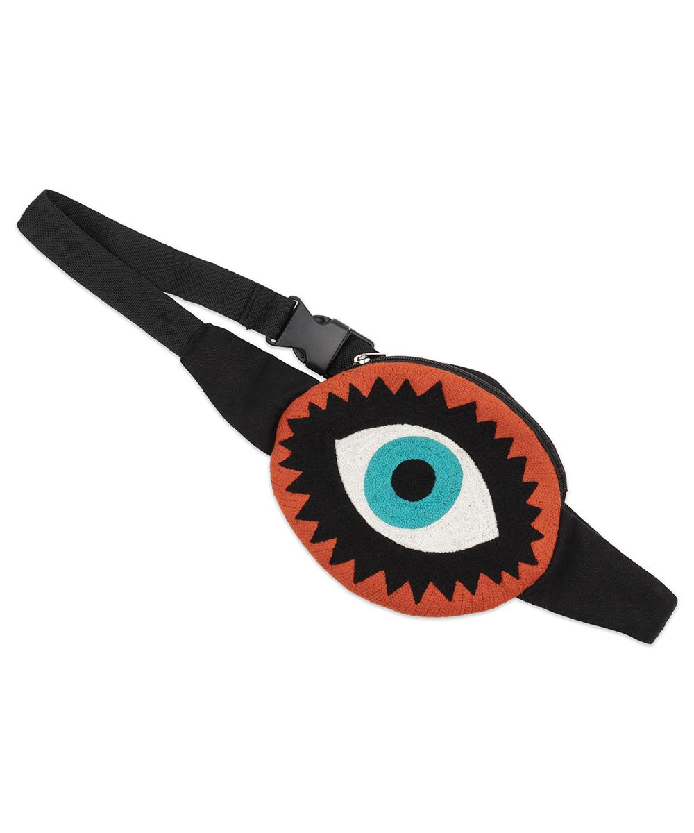 Eye Bag - Electric Paros - Embroidered eye bag with adjustable belt.