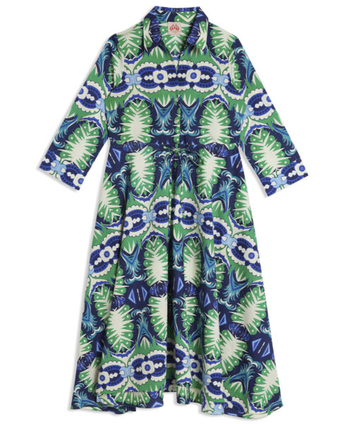 Lucy Fish Tail Caftan - Electric Paros - SKU ep2168