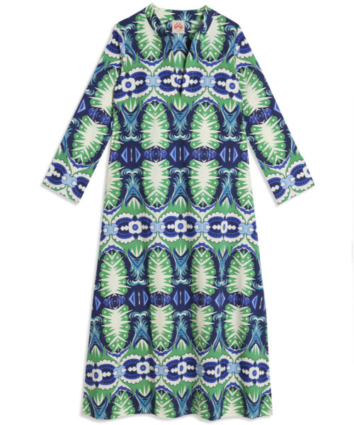 Giada Long Fish Tail Caftan - Electric Paros - SKU ep2174