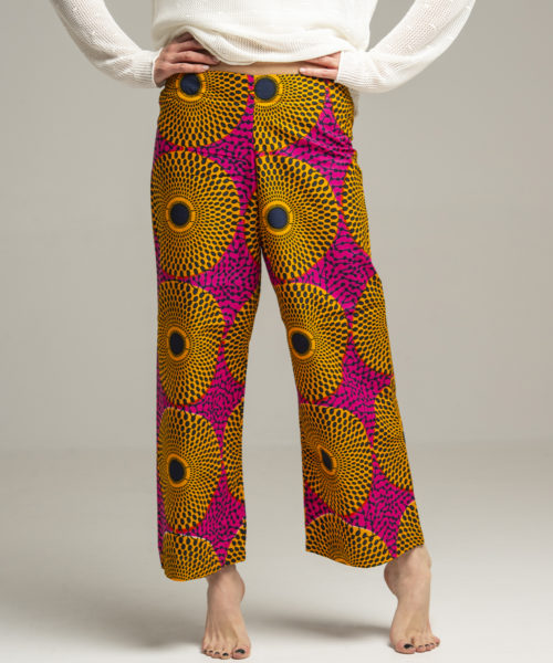Trousers - Electric Paros - One of a kind African wax print trousers