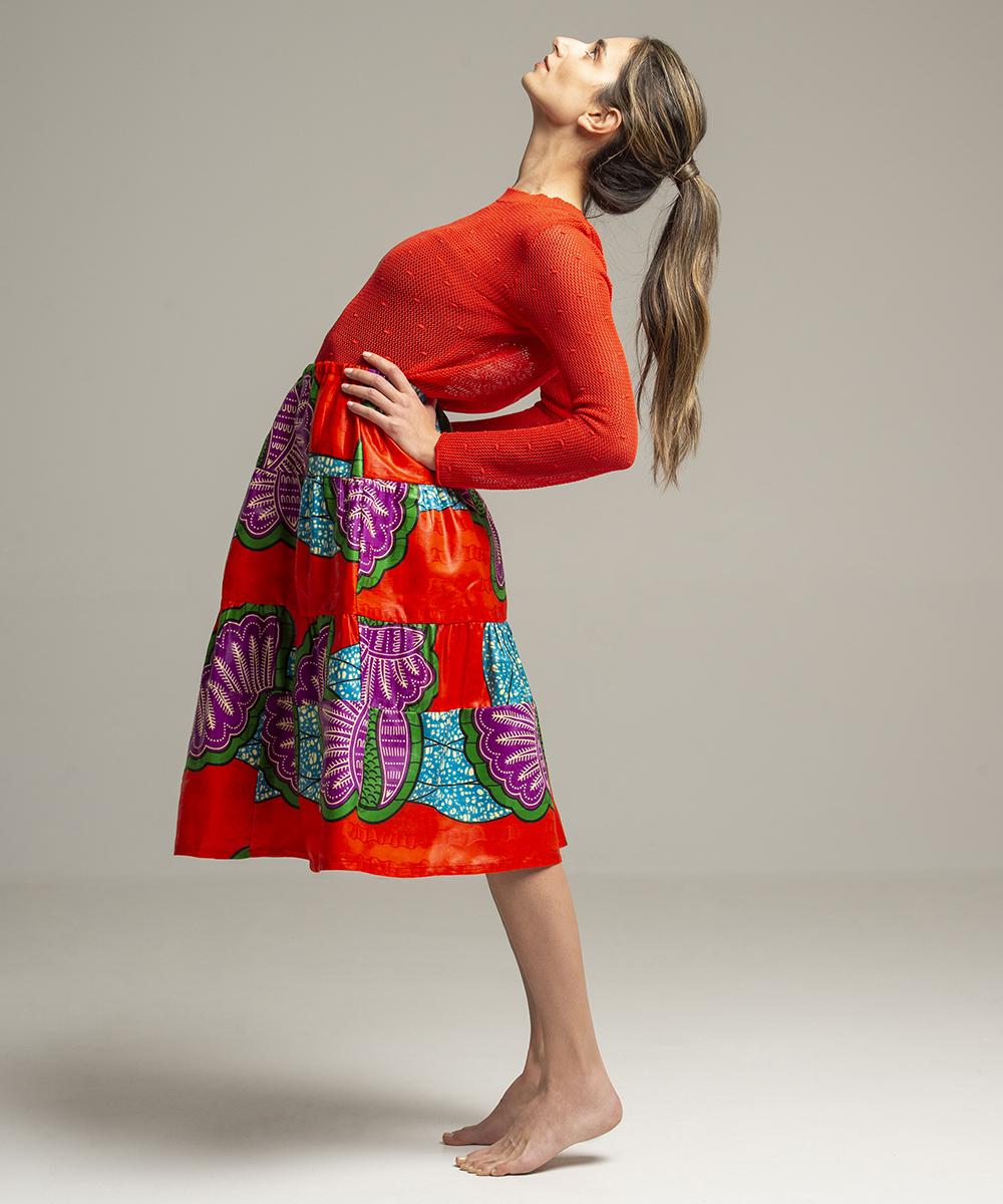 Skirt - Electric Paros - One of a kind African wax print skirt