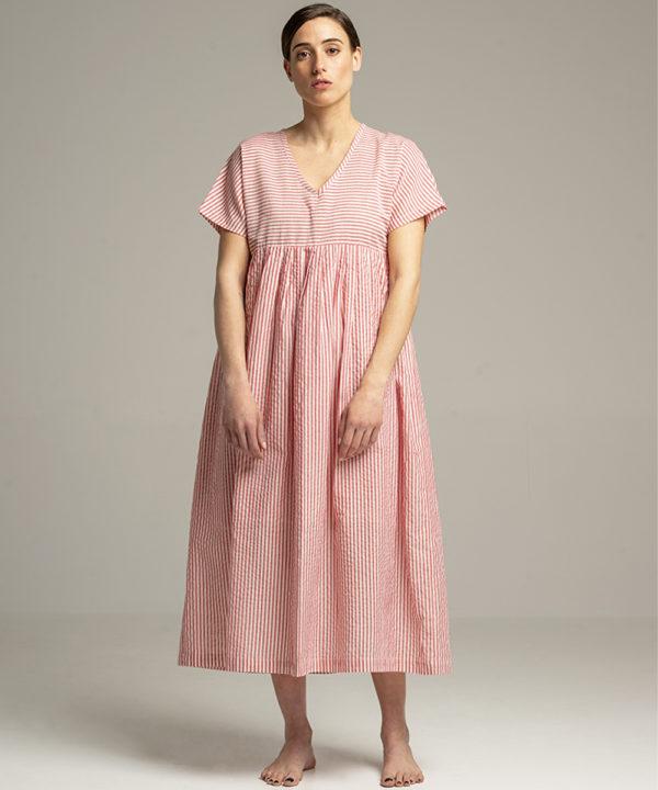 Dress - Electric Paros - Cotton dress with V neck