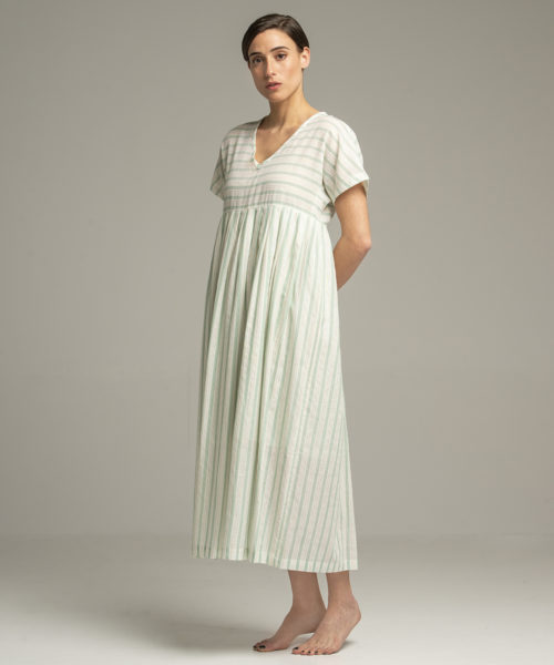 Dress - Electric Paros - Cotton dress with V neck