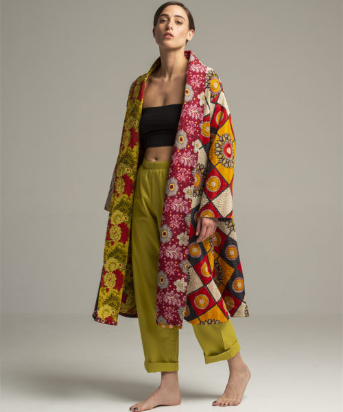 Jacket - Electric Paros - Unique vintage kantha cloth turned intto a long jacket by Electric Atelier. Loose fit