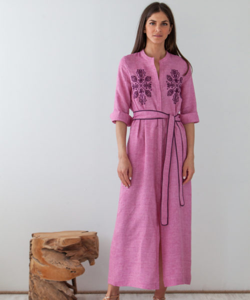 Dareia Long Shirt Dress - Electric Paros - SKU ep2215