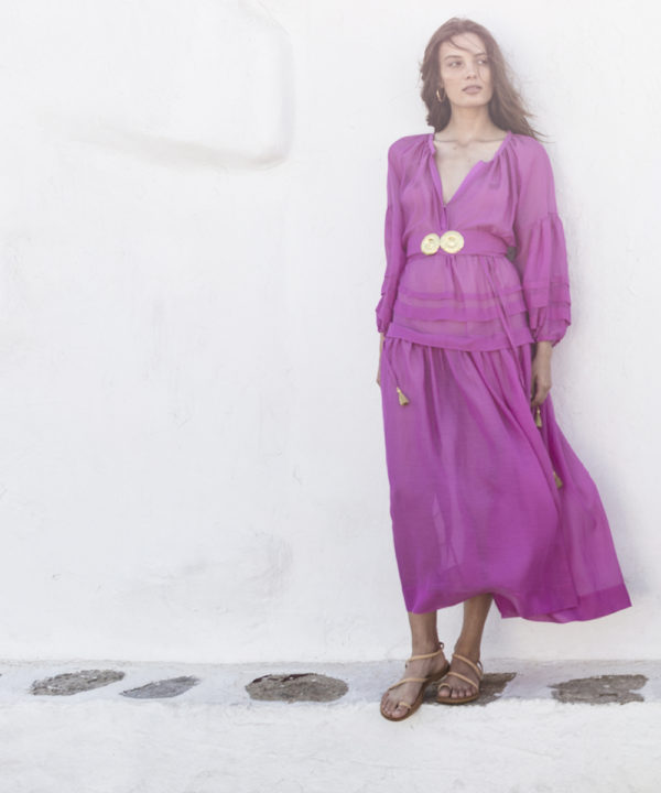 Mykonos Long Dress - Electric Paros - SKU ep2218