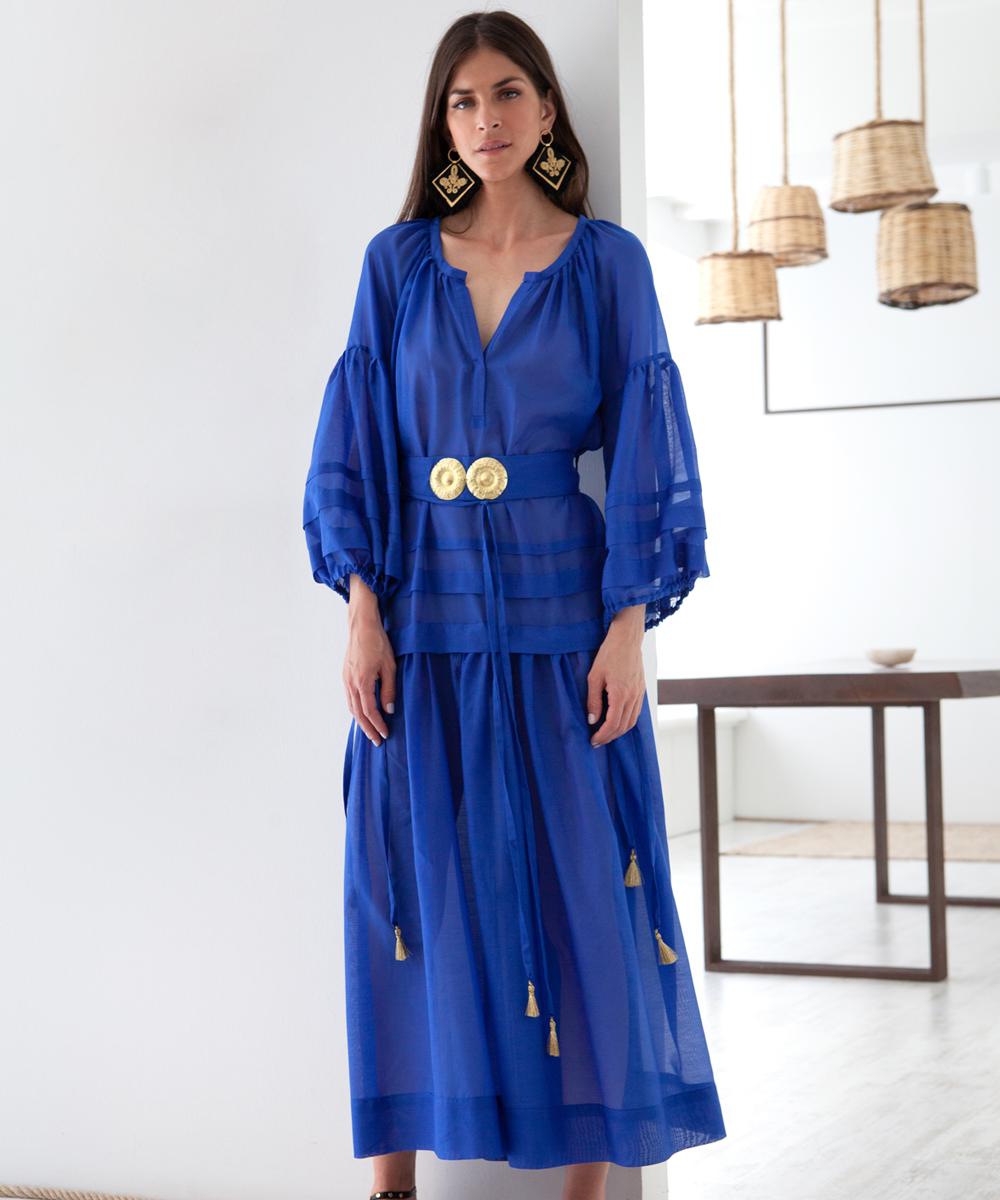 Mykonos Long Dress - Electric Paros - SKU ep2219