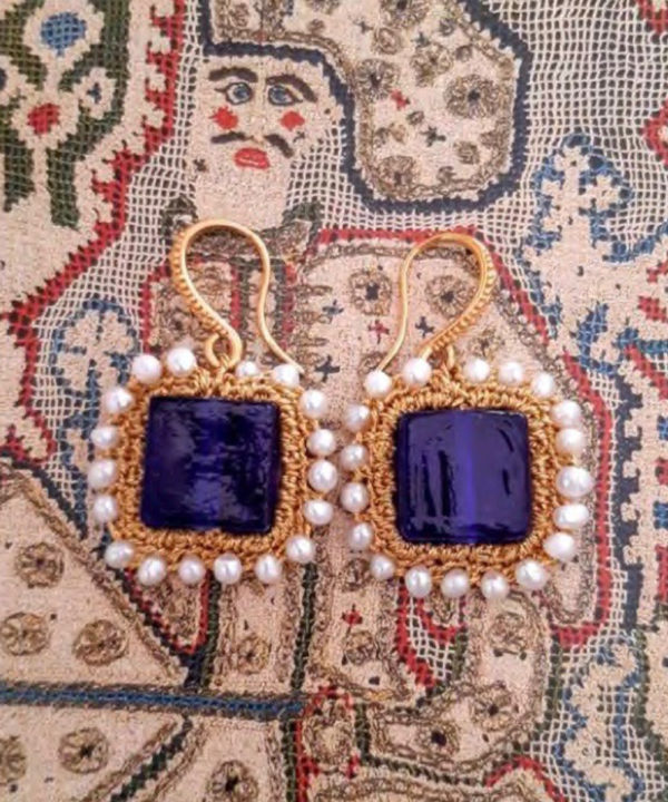 Myrto Blue Earrings - Electric Paros - SKU ep2301