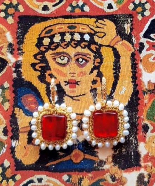 Myrto Red Earrings - Electric Paros - SKU ep2302