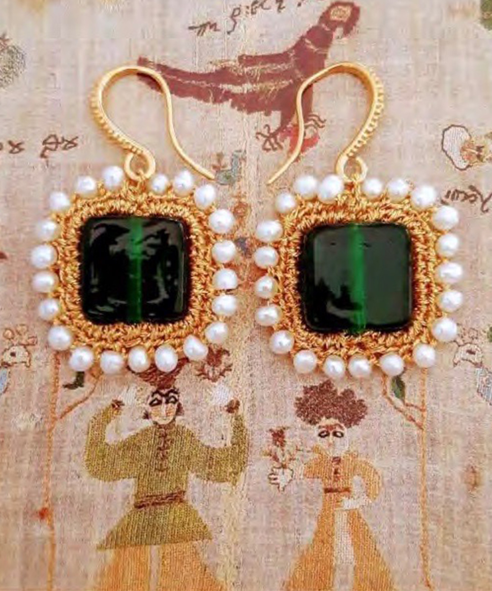 Myrto Green Earrings - Electric Paros - SKU ep2303