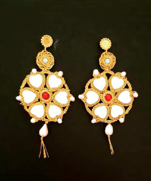 Rosette Earrings - Electric Paros - SKU ep2305