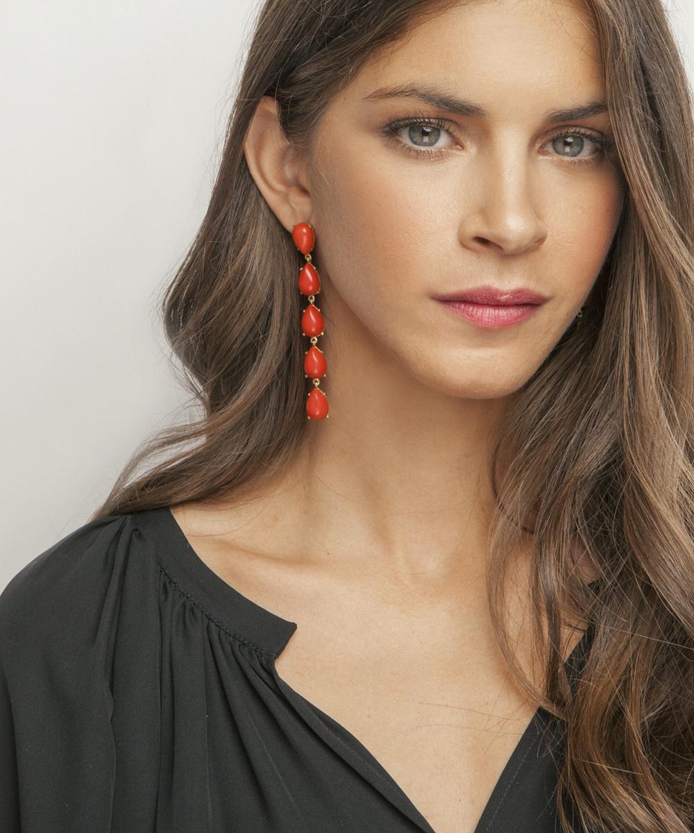 Calypso Coral Earrings - Electric Paros - SKU ep2312