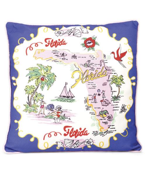 Florida Pillow - Electric Paros - Florida map printed on pillow