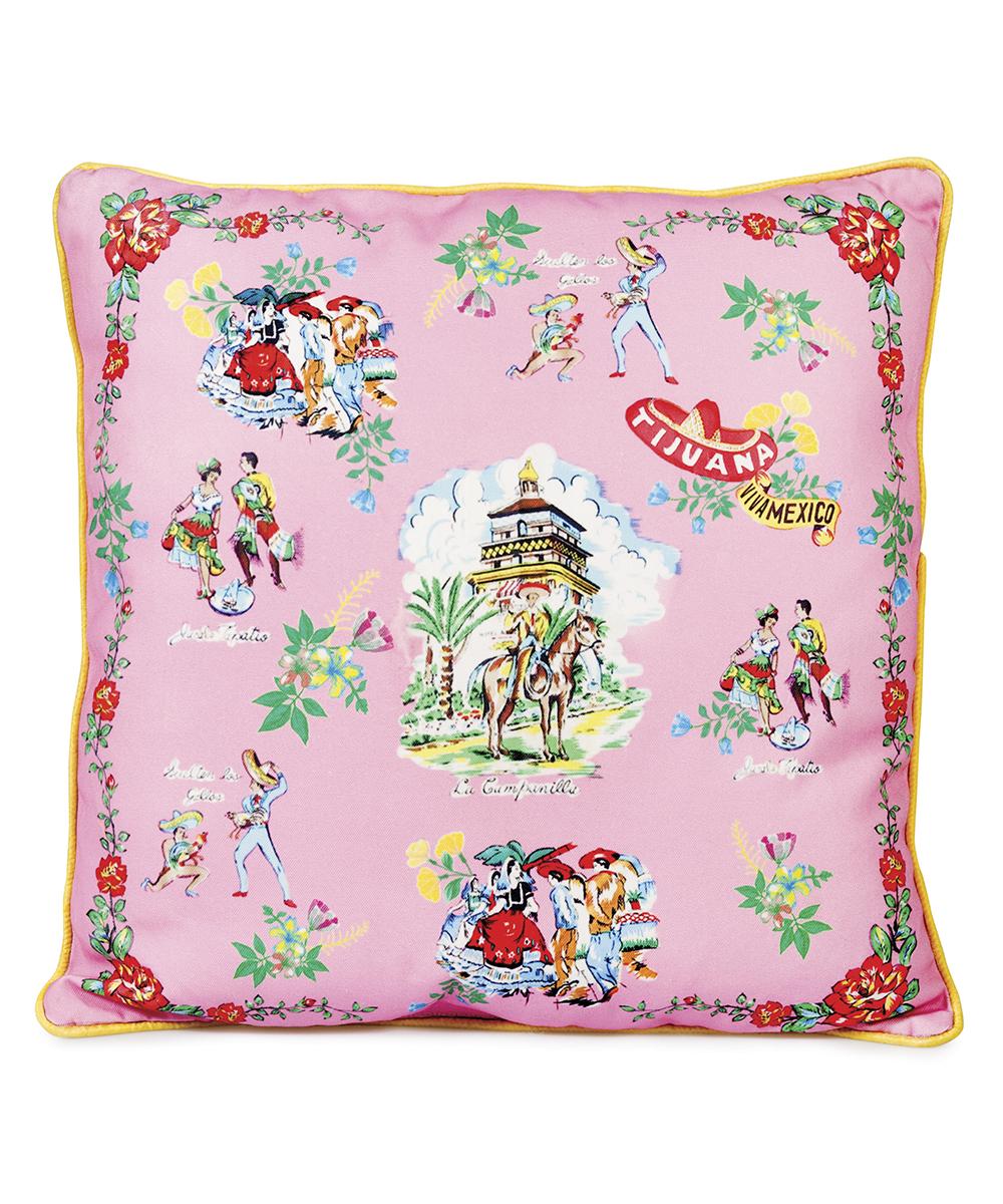 Tijuana Pillow - Electric Paros - Mexico theme printed on pillow