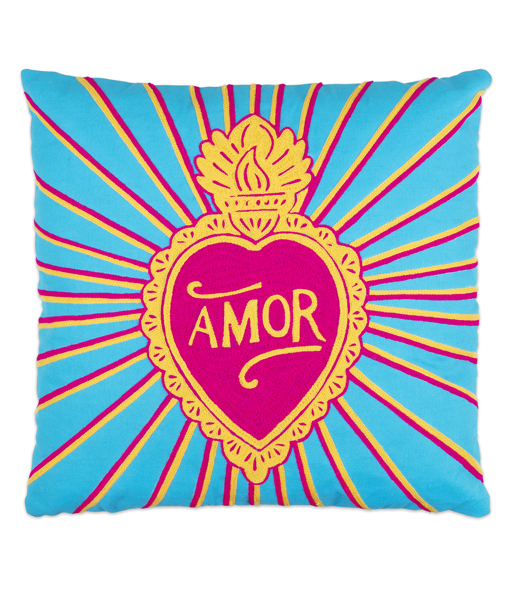 Amor Pillow - Electric Paros - Embroidered pillow