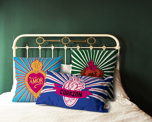 Kitsch Kitchen Pillows Love Edited