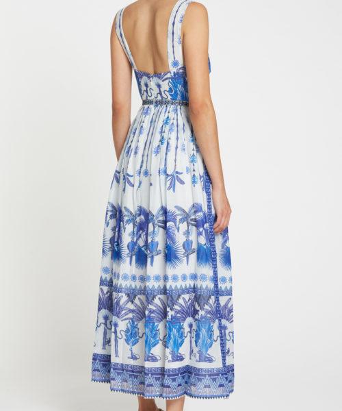 7658 21SSN07 Sophia Winter Garden Dress Cotton Voile Blue R