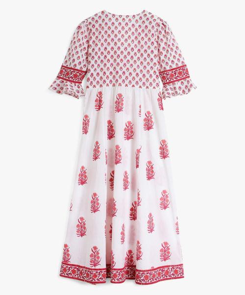 Maria Zip Dress Strawberry Bouquet B