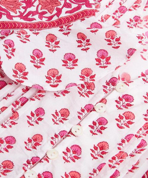 Maria Zip Dress Strawberry Bouquet D