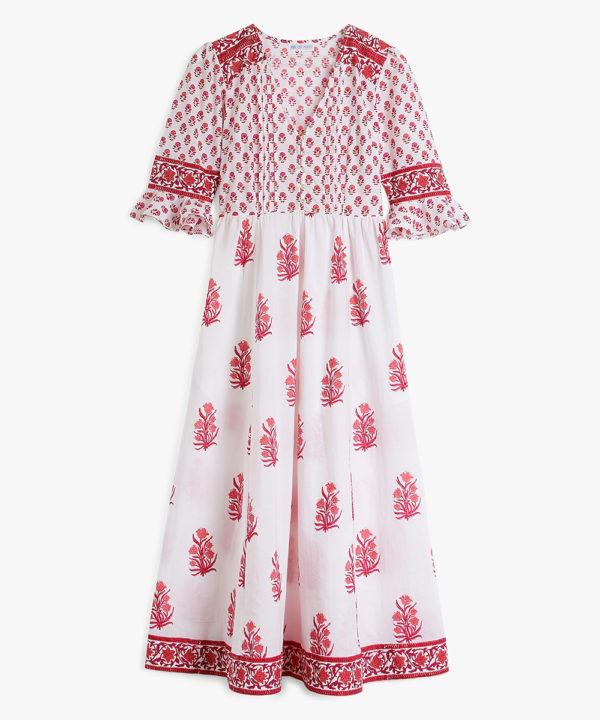 Maria Zip Dress Strawberry Bouquet F