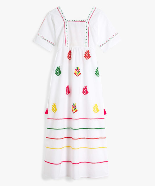South American Dress HAND EMBROIDERED B